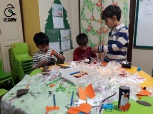 نجاری و خلاقیت با پنگوئن های مداد به سر